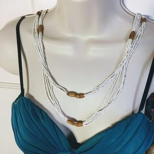 Jewelry - Versatile Glass and Wood Beaded Necklace